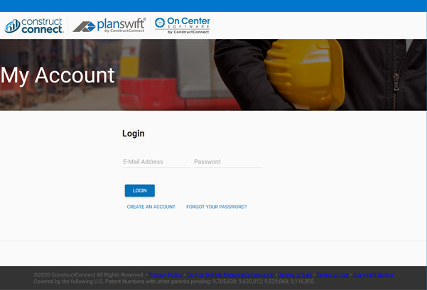 Co-Branded Customer Portal Login page