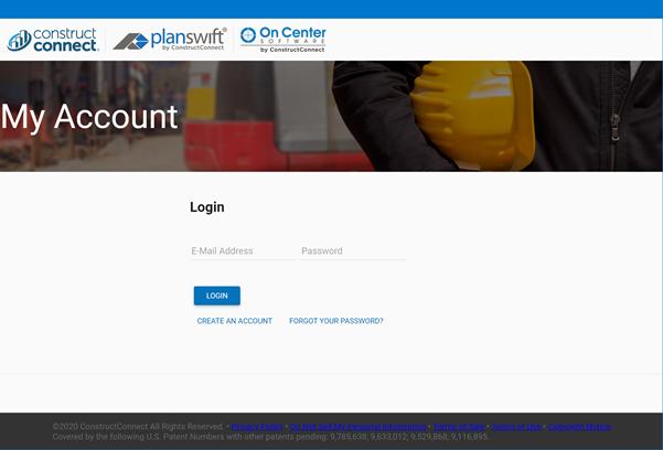 Co-Branded Customer Portal Login page